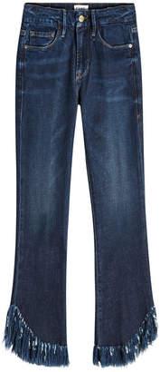Frame Le Crop Mini Boot Shredded Jeans
