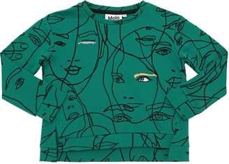 Molo Faces Print Cotton Sweatshirt