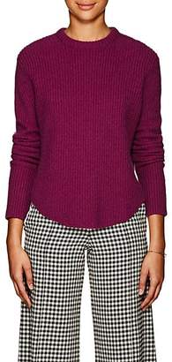 Derek Lam Women's Cashmere Shirttail-Hem Sweater - Plum