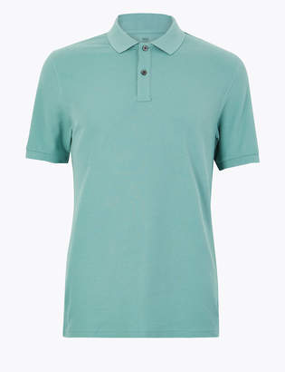 646194b5 M&S CollectionMarks and Spencer Pure Cotton Polo Shirt