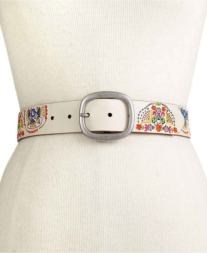 Fossil Belt, Embroidered Medallions