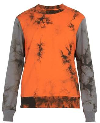 Helmut Lang Tie Dye Cotton Sweatshirt - Mens - Orange Multi