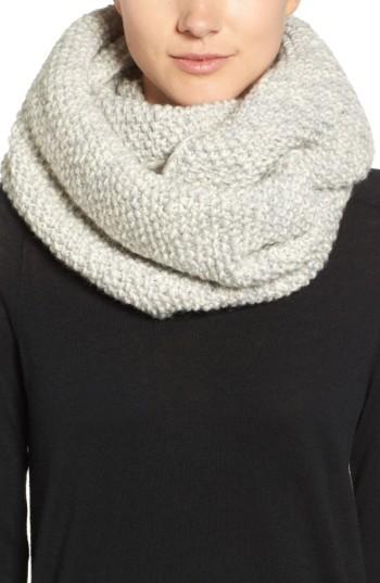 Women's Nirvanna Designs Knit Wool Infinity Scarf
