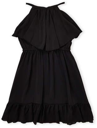 Laundry by Shelli Segal Girls 7-16) Black Sleeveless Flounce Dress