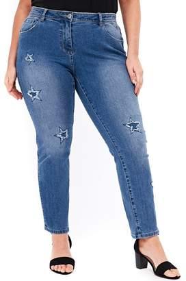 Evans Star Straight Leg Jeans (Plus Size)