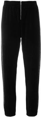 Juicy Couture Swarovski embellished velour jogger pants