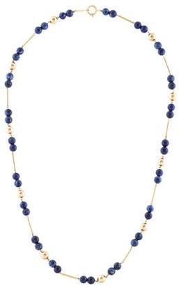 14K Sodalite Bead Necklace
