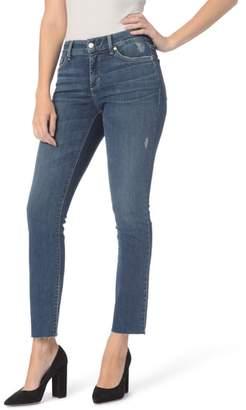 NYDJ Sheri Raw Hem Stretch Slim Ankle Jeans