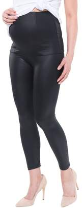Nom Maternity Date Night Over the Belly Coated Maternity Leggings