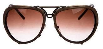 Bottega Veneta Gradient Aviator Sunglasses