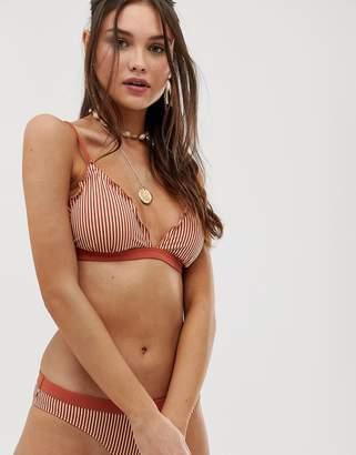 Pieces striped triangle bikini top