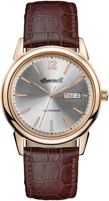 Ingersoll WATCHES New Haven Automatic Leather Strap Watch, 40mm