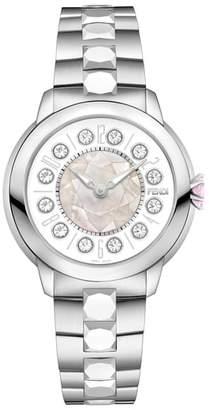 Fendi Ishine Rotating Semiprecious Stone Bracelet Watch, 38mm