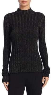Theory Metallic Merino Wool Sweater