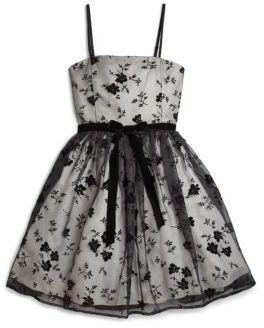 Girl's Flocked Floral Dress $140 thestylecure.com