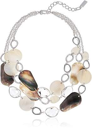 Kenneth Cole New York Power Of The Flower Mixed Shell Multi Row Necklace