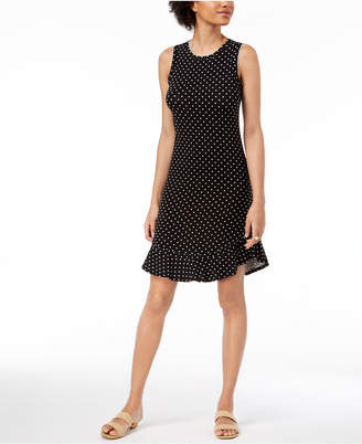 Maison Jules Dot-Print A-Line Dress, Created for Macy's