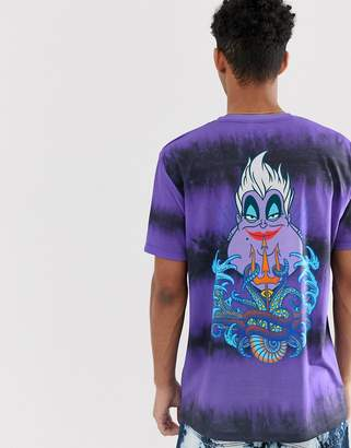 Asos Design DESIGN The Little Mermaid relaxed fit t-shirt in purple tie dye