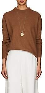 ROUCHA Women's Merino Wool Mock-Turtleneck Sweater-Camel