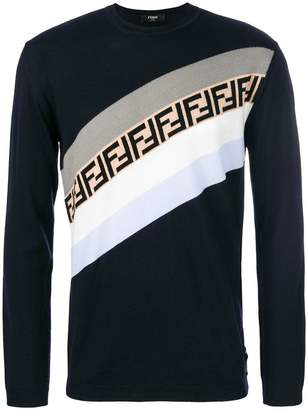 Fendi colour-block logo sweater