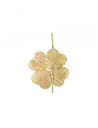 Aurelie Bidermann 18kt yellow gold 'Clover' pendant $795 thestylecure.com