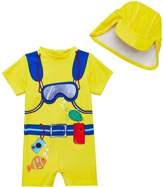b6b9f1a4aa3 Mini V By Very Mini V by Very Toddler Boys 2 Piece Scuba Diver Sunsafe  Swimwear