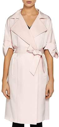 Ted Baker Biibi Bow-Trimmed Trench Coat