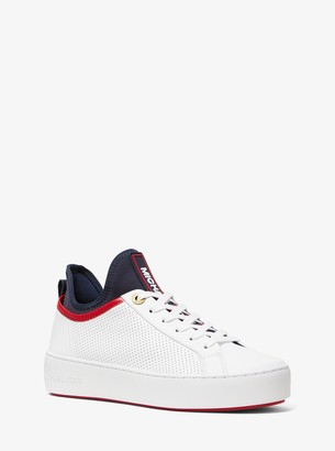 MICHAEL Michael Kors Ace Perforated Leather and Scuba Sneaker