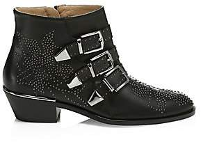 Chloé Women's Susanna Studded Leather Ankle Boots