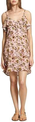 Sanctuary Rafaella Floral Button-Front Slip Dress