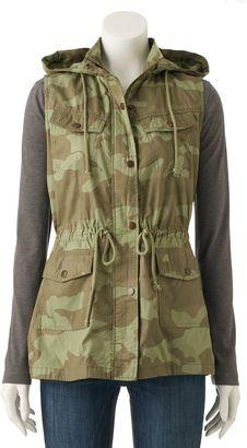 Juniors' Mudd® Utility Vest $48 thestylecure.com