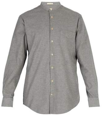 Massimo Alba Band Collar Modal And Cotton Blend Shirt - Mens - Grey
