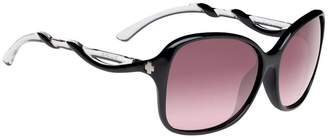 SPY Fiona Black White / Clear Happy Merlot Fade Sunglasses