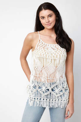 Willow & Clay Crochet Fringe Tank Top