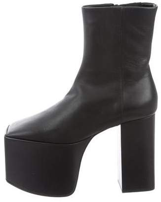 Balenciaga Leather Platform Boots