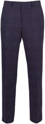 Dorothy Perkins Womens **Burton Blue Chestnut Checked Slim Fit Suit Trousers