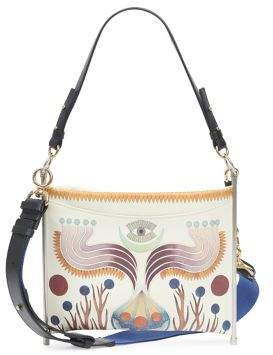 Chloé Roy Canvas Strap Painted Leather Bag