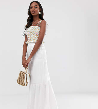 Asos Tall DESIGN Tall cheesecloth tiered summer maxi skirt