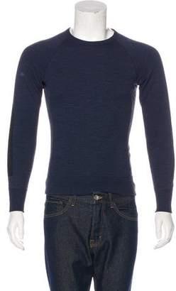 Rag & Bone Suede-Trimmed Sweatshirt