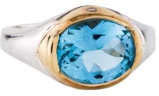 Movado Blue Topaz & Diamond Ring