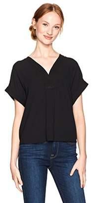 Lucky Brand Women's Draped Shirt Black