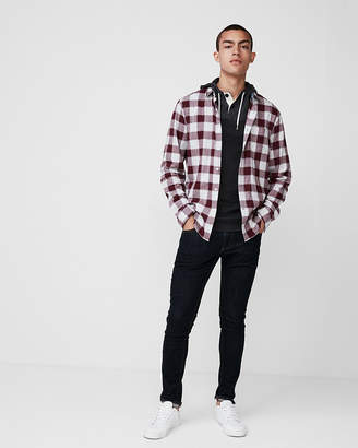 Express Plaid Cotton Button-Down Shirt