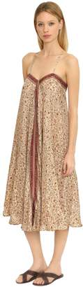Mes Demoiselles Floral Printed Silk Scarf Dress