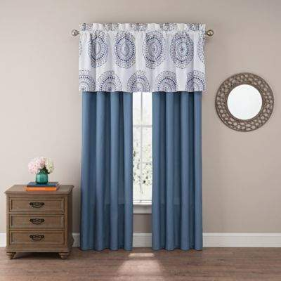 Skylar 84-Inch Window Curtain Panel Pair in Blue