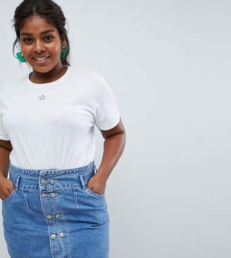 bc1d246c Asos DESIGN Curve t-shirt with tiny star print