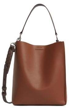 AllSaints Small Voltaire North South Leather Tote