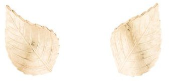 Christian Dior  Christian Dior Leaf Earrings