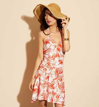 60935f8fa9245a サンアイリゾート サンアイミズギラクエン 【Coral veil Cruise】スカート付きリーフ柄タンキニ