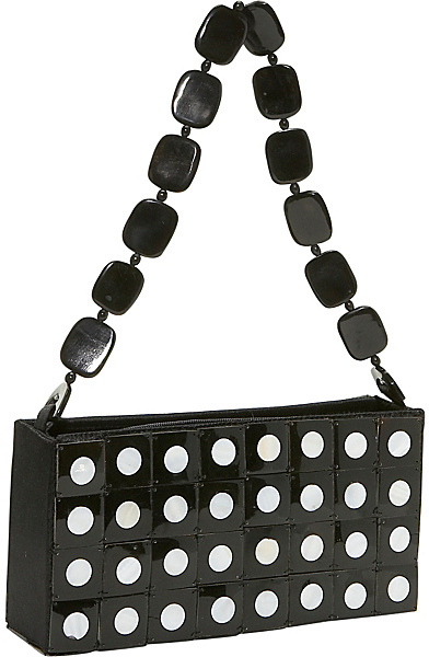 Global Elements Polka Dot Horn Handbag
