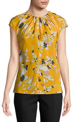 Diane von Furstenberg Floral-Print Silk Top